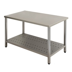 Work table Business without backsplash with perforated shelf