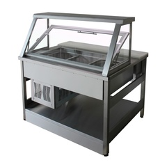 Salad bar with pneumatic cover