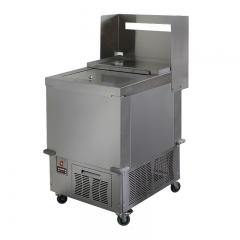 Freezing tables for french fries on wheels
