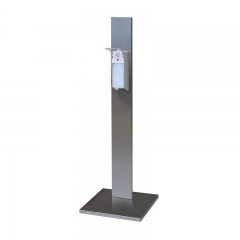 Hand sanitizer stand with elbow dispenser