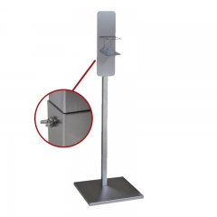 Hand sanitizer stand square-tube height-adjustment