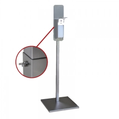 Hand sanitizer stand with elbow dispenser square-tube height-adjustment