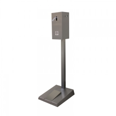 Hand sanitizer stand with dispenser with pedal