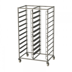 Tray trolley for thermoboxes with 2x10 levels