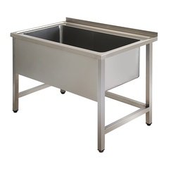 Single pans washing sink unit