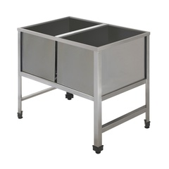 Double sink unit with angle profiles