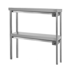 Double shelf for table with infrared heating elements