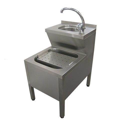 Hand wash-basin with waste collecting