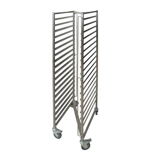 Tray trolley with 18 levels with Z-shaped frame