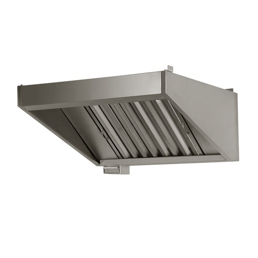 Wall exhaust hood without motor