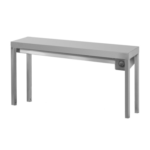 Single shelf for table with electric heating elements